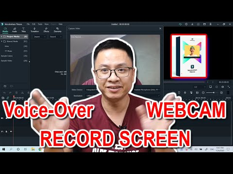 Record Screen, Webcam and Voice-Over Using Filmora X