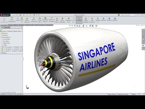 Solidworks tutorial | sketch jet Engine in Solidworks