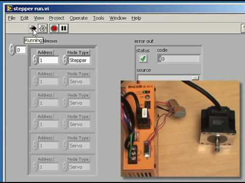 Yaskawa 39 S Lavbiew Runs A Mycom Stepper Motor Youtube