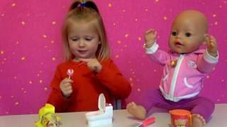 Едим конфетки туалеты Беби бон катя и Эльвира едят необычные вкусняшки