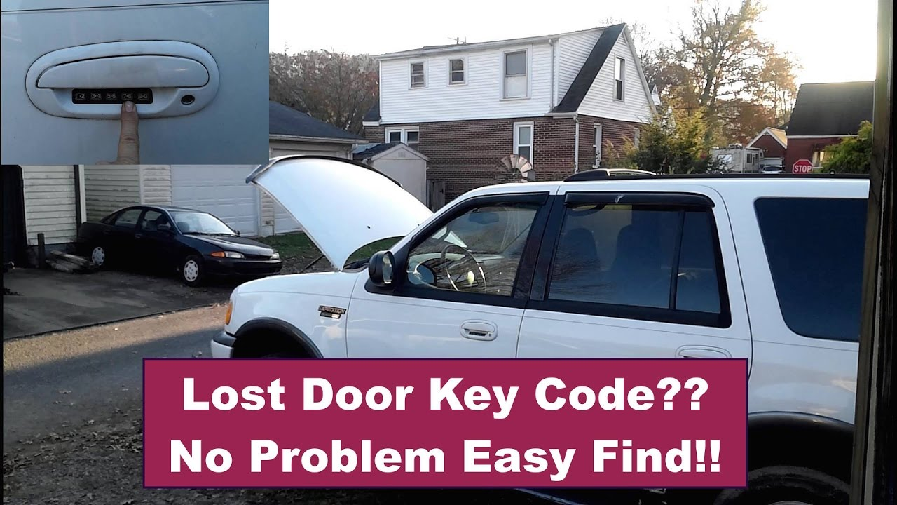 Door Entry Key Code    where is it? How to find it!   2000 Ford Expedition