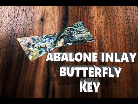 Abalone Inlay Butterfly Key
