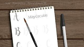 Como DIBUJAR letras bonitas, LETTERING - Mayúsculas scrapbook DIY