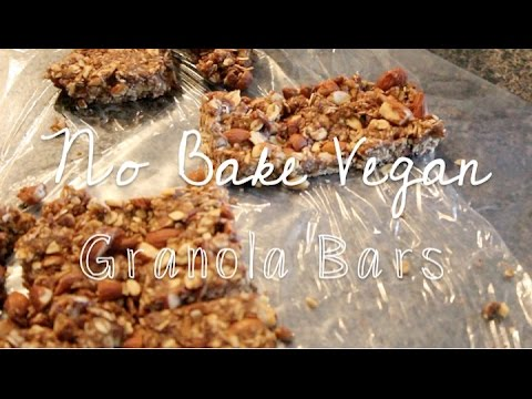 NO-BAKE GRANOLA BARS   Vegan Recipe