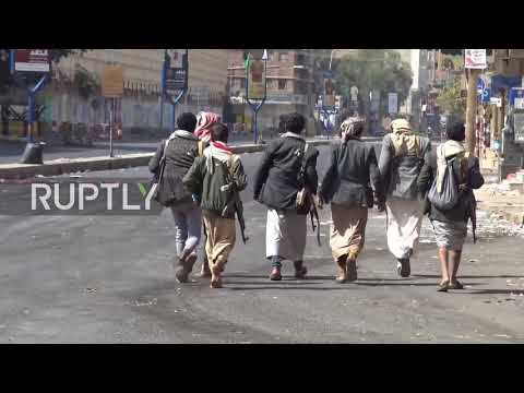Yemen: Houthi fighters patrol Sanaa after blowing up home of Ali Abdullah Saleh