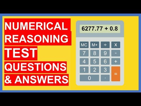 21 NUMERICAL REASONING TEST Questions and Answers (PASS!) - YouTube