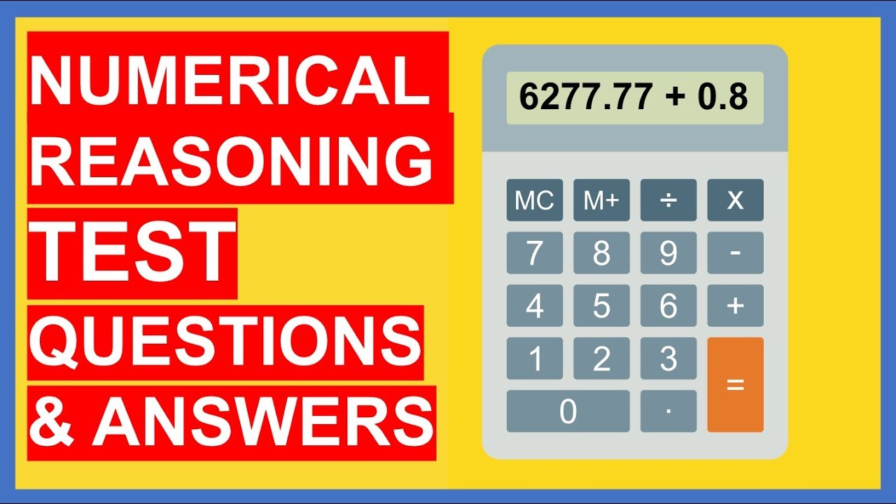 21 NUMERICAL REASONING TEST Questions and Answers (PASS!)