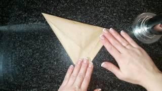 как сделать корнетик(кондитерский мешок)Как сделать надпись на торте