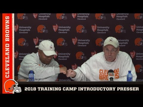 Hue Jackson and John Dorsey open 2018 Training Camp | Browns Press Conference