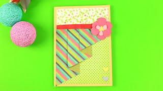Открытка для мамы своими руками(Как сделать красивую открытку для будущей мамы? В мастер-классе мы сделаем очаровательную открытку из бума..., 2016-07-06T14:00:43.000Z)
