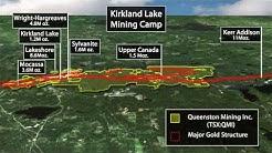 Mining Gold Technical 3D Animation / IR PR Presentation Ontario Canada Queenston Mining Inc.