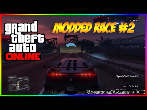 GTA 5 Online - Insane Modded Race (Windmills, Asteroids, ramps, ufos + More)