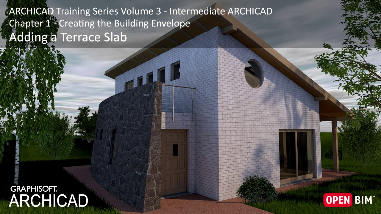 Elegant Adding A Terrace Slab   ARCHICAD Training Series 3 U2013 13/52