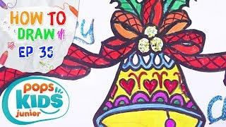 Sắc Màu Tuổi Thơ - Tập 35 - Bé Tập Vẽ Đồ Trang Trí Noel | How To Draw Coloring Christmas Bells
