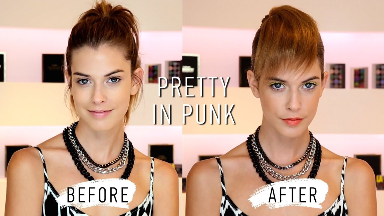Forever 21 Beauty Neon Eyeliner And Faux Pixie Hair Tutorial Youtube