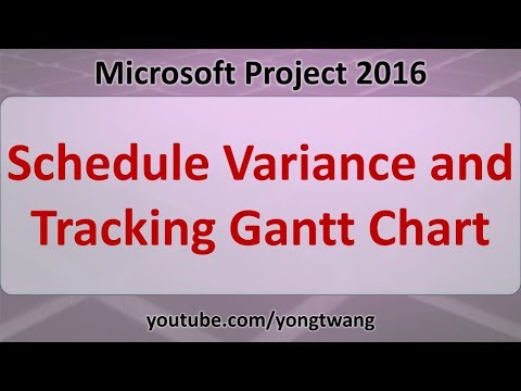 ms project tutorials 20 schedule variance and tracking gantt chart