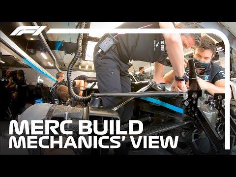 Mechanics POV: Mercedes F1 Mechanics Prepare W11 For Qualifying