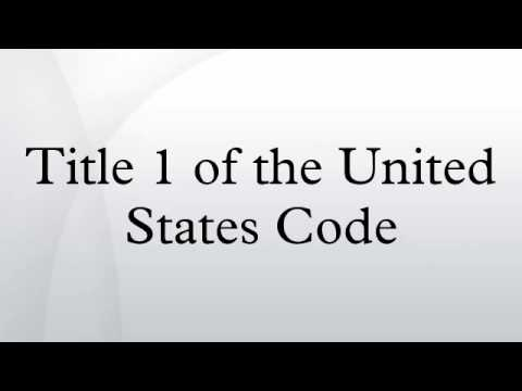 Title 1 of the United States Code