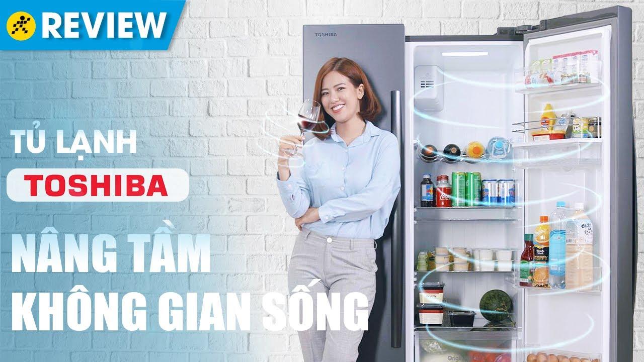 Tủ lạnh Toshiba 513L: lấy nước ngoài, Dual Inverter tiết kiệm điện  (GR-RS682WE) • Điện máy XANH - YouTube