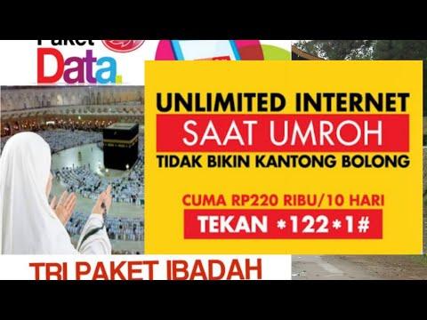 Cara Mengaktifkan Paket Data Internet Umroh - #Indosat dan #Tri.