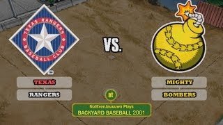 Backyard Baseball 2001 Game 1 (Season Opener) | Texas Rangers VS Mighty Bombers