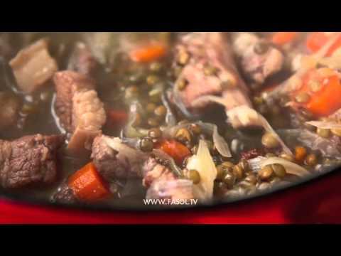 Суп с чечевицей, свининой и горчицей