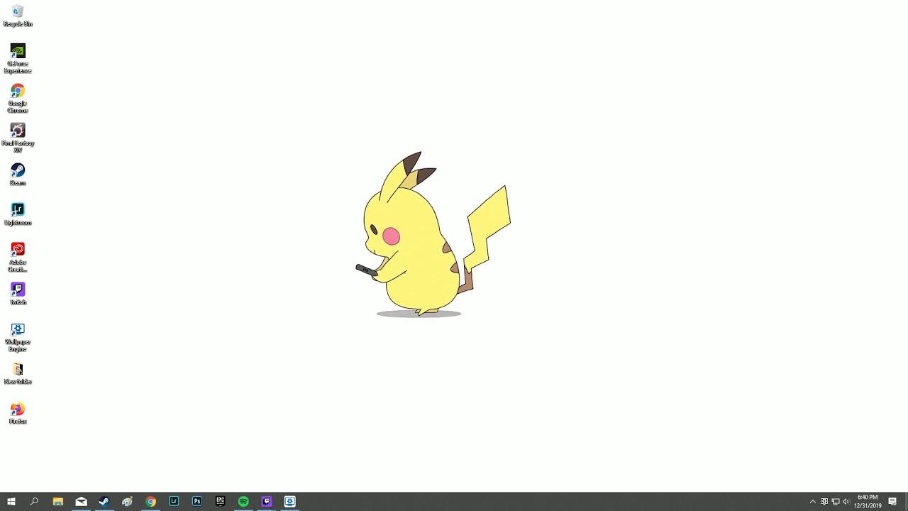 Walking Pikachu Live Wallpaper - Wallpaper Engine - YouTube