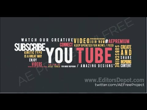 Colorful Typography Template World Pack [FREE DOWNLOAD] - YouTube