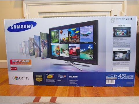"""Unboxing & Setup: Samsung LED F5500 Series Smart TV 46"""" - Лучшие"""