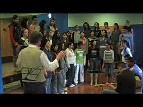 Gandhi School Choir singing Jarba Mare Jarba