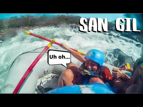 RAFTING GONE WRONG IN SAN GIL 😳💦Backpacking Colombia
