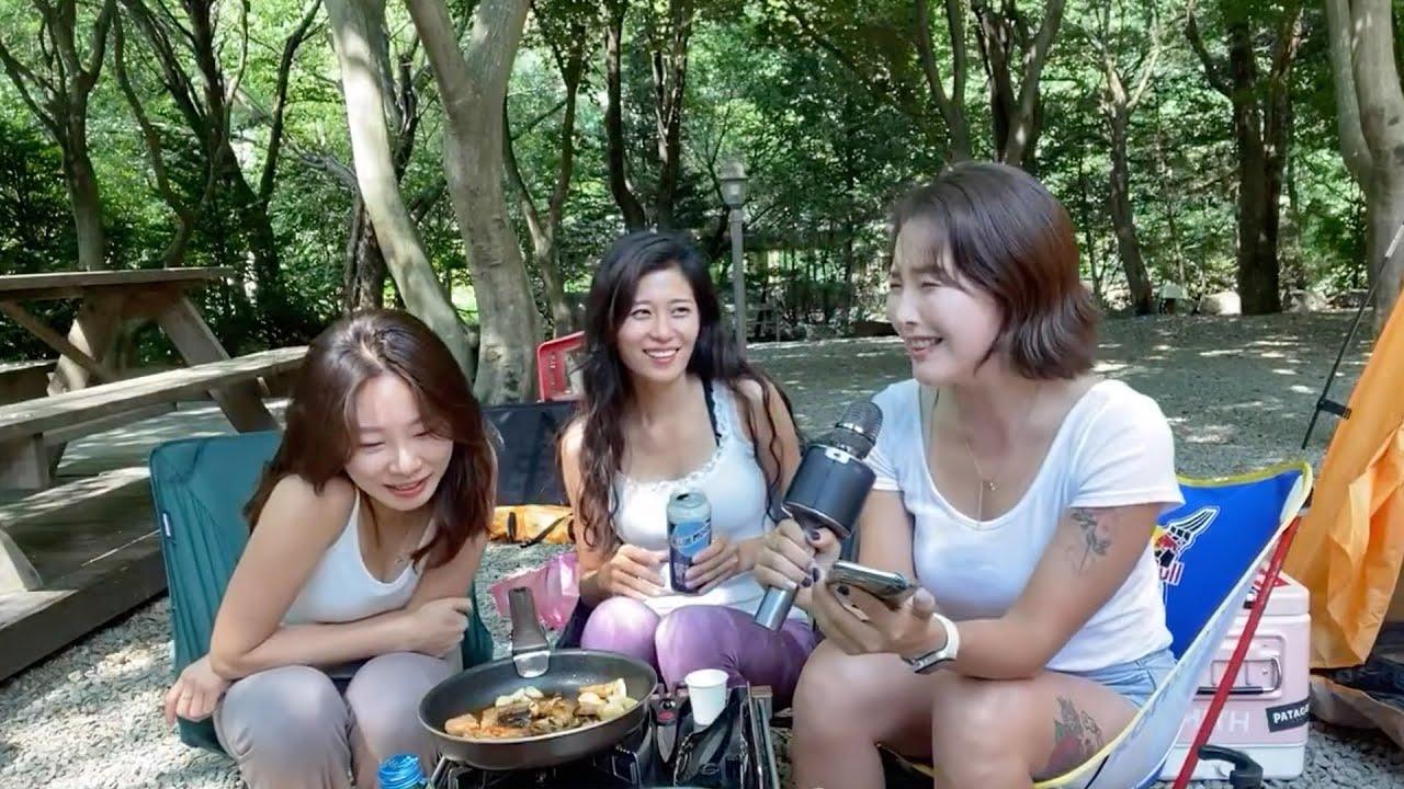 [라이브방송] 여자친구끼리 캠핑갔어요~! 혜화동엘린, 빵솜, BJ일반인 완전 전세캠핑