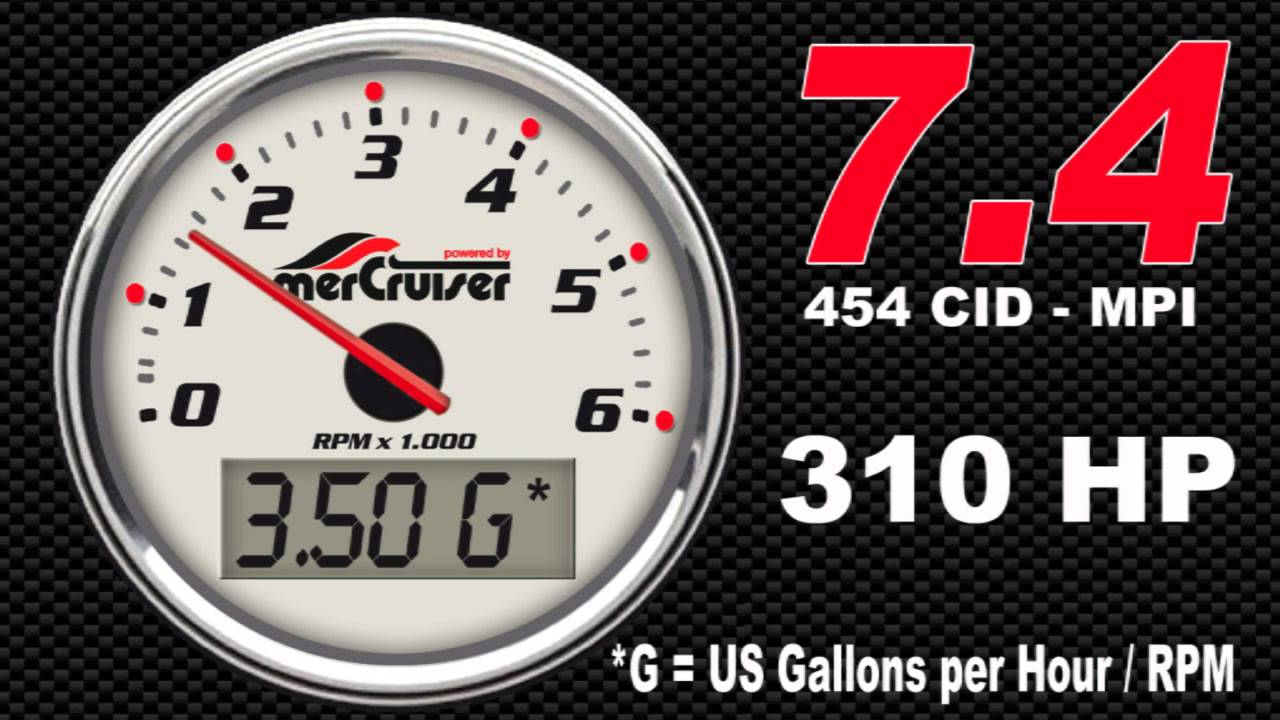 medium resolution of boat fuel economy mercruiser 7 4 l 454 mpi 310 hp fuel consumption youtube