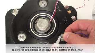 Vibration eardrop Sensor Calibration Mounting