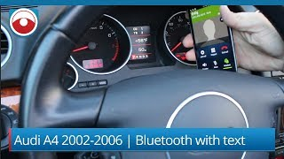 Audi A4 B6 2002-2006 with RNS-E Navigation | Bluetooth for Music and Calls with text.