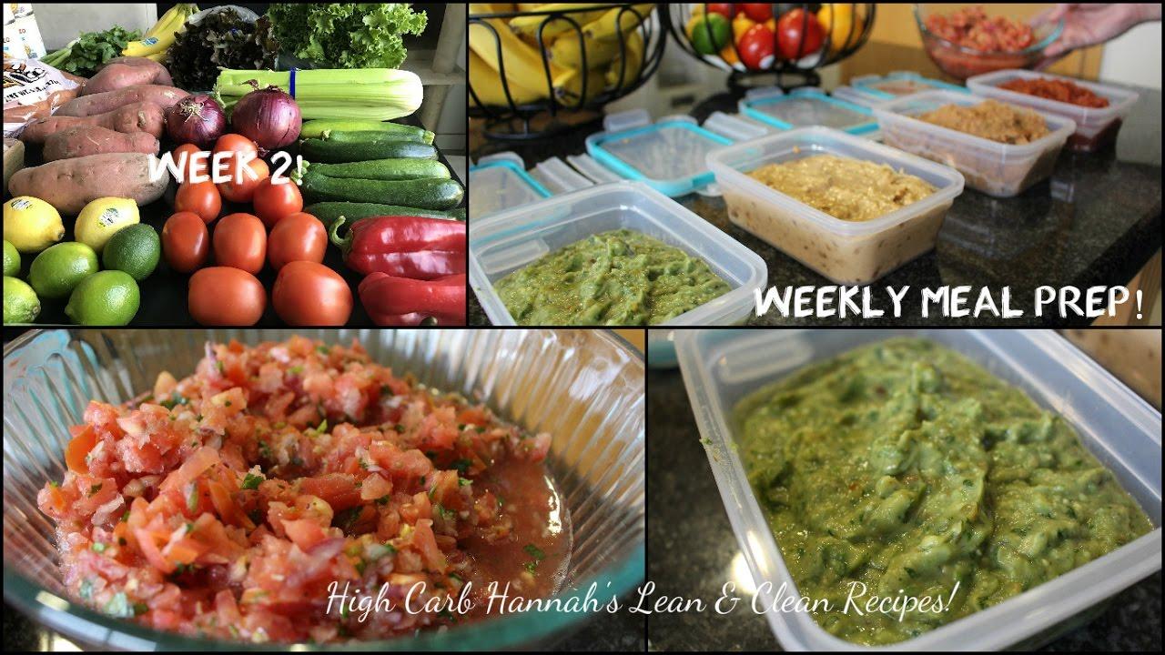 Weekly meal prep week 2 high carb hannah lean clean recipes weekly meal prep week 2 high carb hannah lean clean recipes vegan youtube forumfinder Choice Image