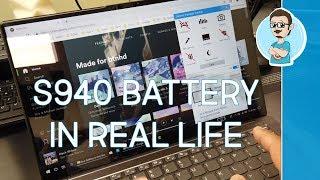 Real Life Battery Test | Lenovo IdeaPad S940!