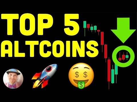 TOP 5 ALTCOINS FOR CHRISTMAS (btc bitcoin crypto live news price analysis today xrp eth ltc alts ta