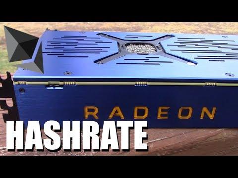 AMD Vega Frontier Edition Ethereum Hashrate