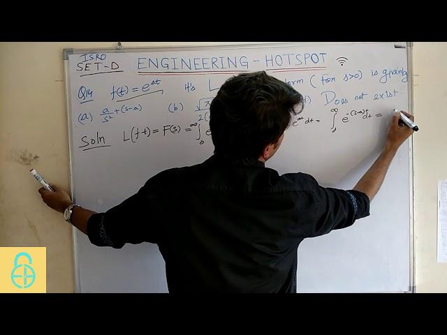 ISRO 2017-DECEMBER: ME-14(ENGINEERING MATHEMATICS-LAPLACE TRANSFORM)
