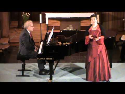 glabais concert Sebastian Stride Baritone Martine gaspar Contralto,Alain Bajot pianiste