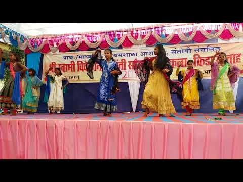 Santoshi Ashramsala-Sarki jo sarse dhire dhire -10 classes girls dance