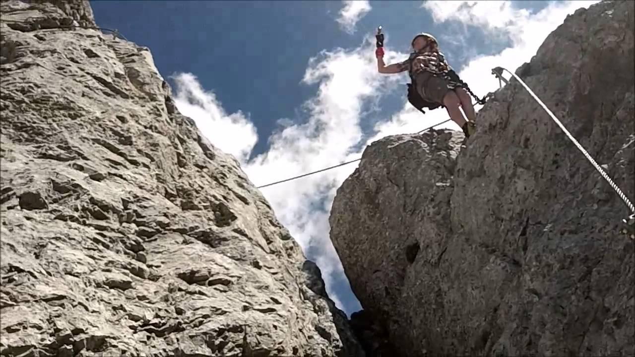 Klettersteig Däumling : Däumling klettersteig kärnten 2014 youtube