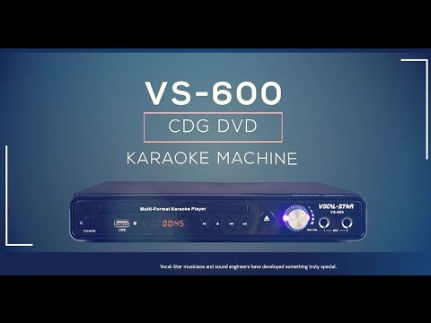VS-600 Karaoke Machine CDG/CD/DVD Player Overview (e)
