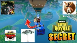 FORTNitE DEFI PASS OF COMBAT WEEK 2 FOUILLER IN A BASSIN A MOULIN AND A PARASOL EN