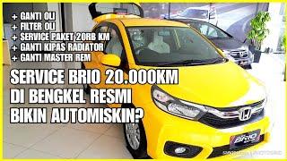 Service Mobil Honda Brio Di Bengkel Resmi Bikin Automiskin Youtube