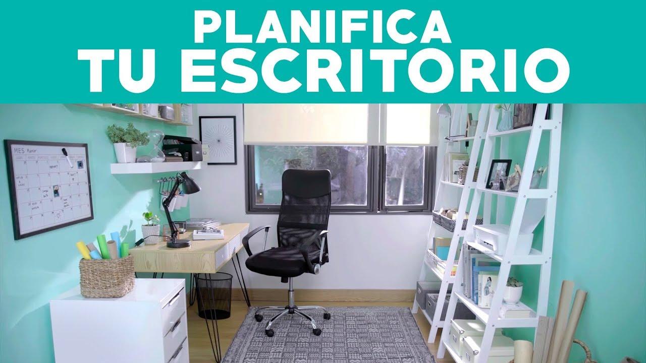C mo planificar tu escritorio oficina youtube for Elementos para decorar una oficina
