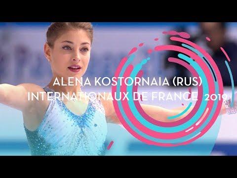 Alena Kostornaia (RUS) | Ladies Short Program | Internationaux De France 2019 | #GPFigure