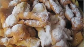 Хворост мягкий и пышный с сахарной пудрой на блендере Цептер