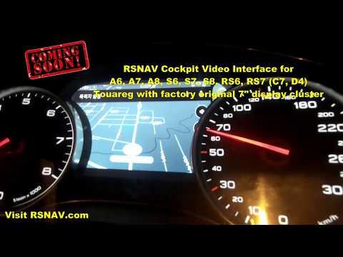 RSNAV Cockpit Video Interface For Audi C7, D4 (A6, A7, A8, S6, S7, S8, RS6, RS7)